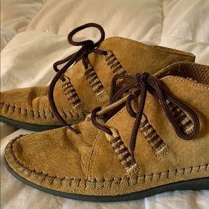 Leather Craft Cheyenne Tan Suede Desert Boots Sz 5